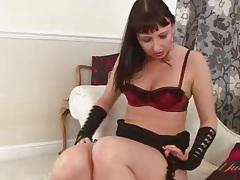 Shiny high heels look hot on this masturbating milf tubes
