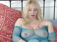 Sensual milf masturbation porn with a babe in lingerie tubes