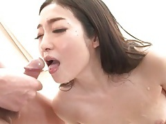 Guys line up and cum on a japanese slut tubes