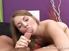 Beauty with lovely little tits gives a blowjob tubes