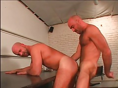 Shaved head hotties have great anal sex tubes