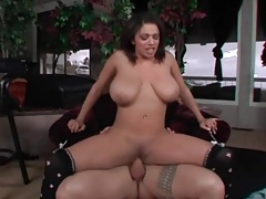 Reverse cowgirl cock ride with a curvy slut tubes