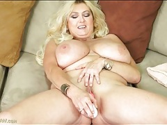 Her huge mature tits are tasty in a toy scene tubes
