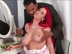 Fondled busty babe gives a bj to a black cock tubes