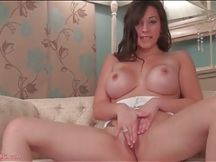 Fake titty chick sophie parker in sexy panties tubes