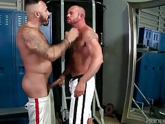 Pierced hairy bear is hot as hell in a gay bj video tubes