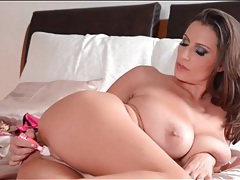 Perfectly hot chick with huge tits masturbates tubes
