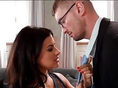 Gorgeous billie star blows her man after a date tubes