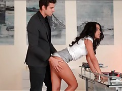 Secretary layla sin submits to her boss tubes