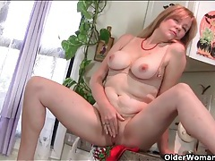 Housewife feels the urge to strip and tease you tubes
