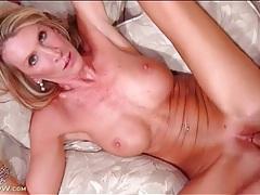 Big mature titties showered in his hot cum tubes