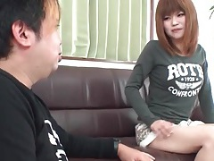 He convinces her to show off her japanese asshole tubes