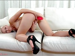 Ass up girl is hot with a toy in her pussy tubes