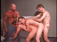 Tight gay asses fucked in a wild gangbang tubes