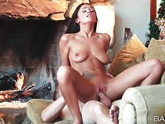 Romantic fireside sex with whitney westgate tubes