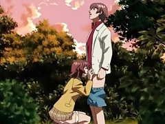 Anime schoolgirl blows her boyfriend outdoors tubes