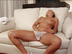She is a pure blonde beauty with a desire to finger tubes