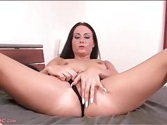 Very long fingernails on a masturbating hottie tubes