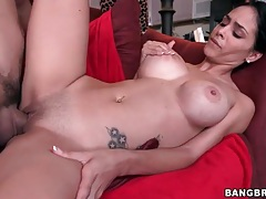 Fit latina with amazing fake tits gets fucked tubes