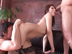 Black stockings are sexy on a japanese cocksucker tubes