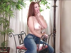 Milf mindi mink with her big tits in a tight tank top tubes