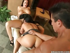 Big titty pornstar sluts ride his face and cock tubes