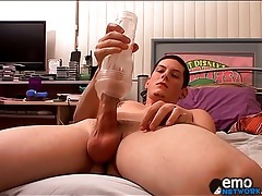 Locker room butt fucking with a couple of twinks tubes