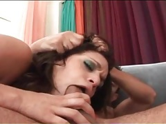 Anal whore sucks dicks as she rides tubes