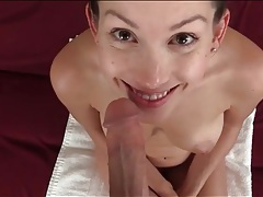 Brown eyed cutie wants a cock in her mouth tubes