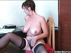 Big russian milf tits are smoking hot as she plays tubes