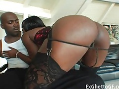 Jada fire dazzles in a corset and stockings tubes