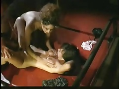 Retro lesbian strapon sex and cunt eating tubes