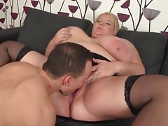 Sexy fat chick makes his cock feel good tubes