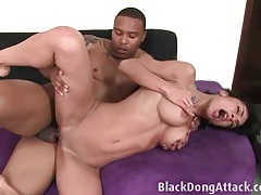 Her milf cunt is ready for his black dick tubes