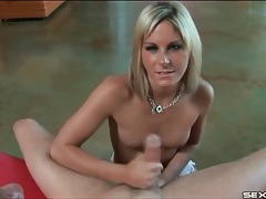 Handjob from a skinny girl with pretty eyes tubes