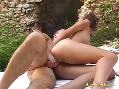 Skinny french first anal in nature tubes