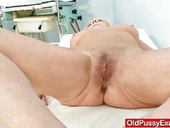 Blondie granny dorota geriatric gyno checkup tubes