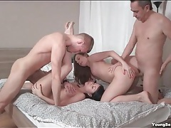 Teen cocksuckers fucked by their hard dick men tubes