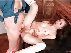Three times her age and cumming in her cunt tubes