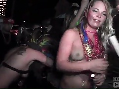 Amateur asses dance and shake at a night club tubes