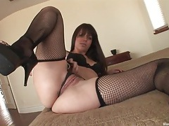 Bobbi starr looks her best in sexy black lingerie tubes