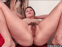 Sultry mom wants you to see her big bush tubes