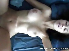 Pounding his gorgeous big tits gf in the bedroom tubes