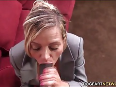 Milf catches him jerking off and sucks his cock tubes