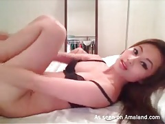 Breathtaking asian cam beauty masturbates tubes