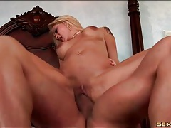 Slut with a soaked cunt on top and bouncing hard tubes