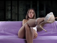 Mistress in pantyhose and heels humiliates you tubes