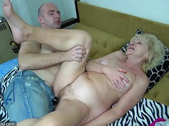 Young girls and old grannies masturbate and fucking with a toy tubes