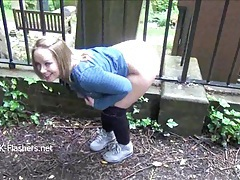 Cute ashley riders flashing and overcoming her shyness tubes
