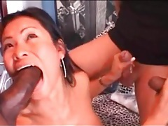Amazing fake tits on a cocksucking asian girl tubes